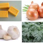 صابون الغسيل ، البصل ، الثوم و الشيح