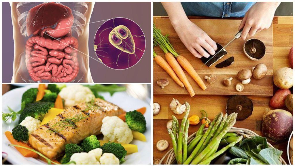 النظام الغذائي لجارديا في البالغين والأطفال