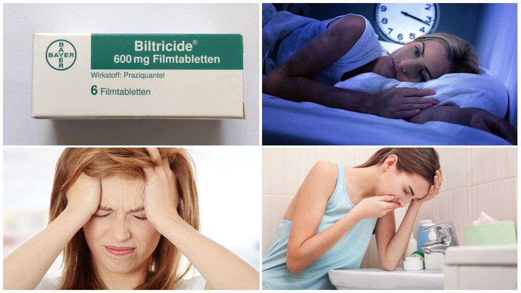 الآثار الجانبية لأخذ biltricid